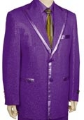 SKU#MW2842 Mens 2 Button Purple Tuxedo Suit $285