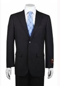 SKU#FS8787 Men's 2-button Solid Charcoal Suit $149