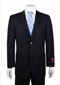 2-button Solid Navy Suit