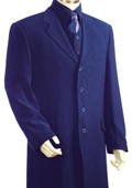 SKU#UZ8176 Men's 3 piece With Vest Long Jacket Zoot Suit Royal Blue $189