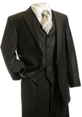 3pc Suit Brown Pinstripe