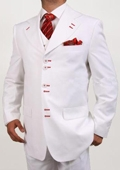 6 Button White Vested