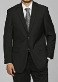 SKU#DG9940 Men's Black 2-button Blazer $149