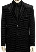 SKU#WR6292 Mens Black Long Zoot Suit $175