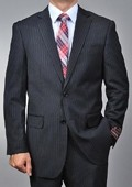 Black Pinstripe 2-button Suit
