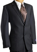 Mens Black Pinstripe Wool Italian Design Suit Black $249