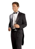 SKU#JM2828 Mens Black Tailcoat with Matching Formal Trousers $139