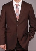 Brown 2-button Slim-fit Suit