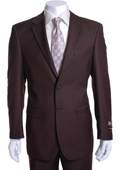 SKU#GS9841 Men's Brown 2-button Suit $149