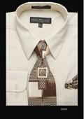 SKU#SD6801 Men's Classic Dress Shirt Sand $39
