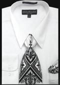 SKU#WH0283 Men's Classic Dress Shirt White $39