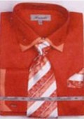 SKU#UX5093 Men's Double Collar French Cuff Shirts with Cuff Links Fuschia $65