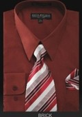 Men's Dress Shirt - PREMIUM TIE - Brick $39