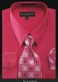 Men's Dress Shirt - PREMIUM TIE - Fuchsia $39