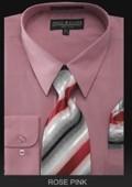 Men's Dress Shirt - PREMIUM TIE - Rose Pink $39