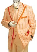 Mens Exclusive Peach Pinstripe
