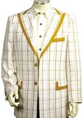 Exclusive White Mustard Pinstripe