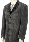 Fashion Velvet Suit Grey