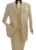 Fashion Zoot Suits Beige