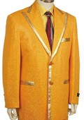 Mens Fashionable Zoot Suit Gold