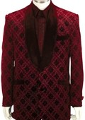 SKU#BY8162 Mens Fashionable Zoot Suit Red $175