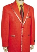 SKU#BY8169 Mens Fashionable Zoot Suit Red $225