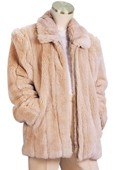 Mens Faux Fur 3/4 Length Coat