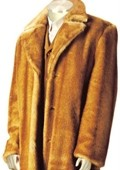 Mens Faux Fur Full Length Coat