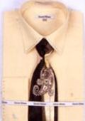 SKU#CN3422 Mens French Cuff Shirts with Cuff Links Corn $65