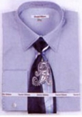 SKU#EZ3422 Mens French Cuff Shirts with Cuff Links Light Blue $65