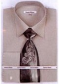 SKU#SG6878 Mens French Cuff Shirts with Cuff Links Sage $65