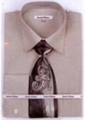 SKU#SG6878 Mens French Cuff Shirts with Cuff Links Sage $65