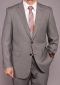 Gray Birdseye 2-button Suit