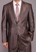 Gray Metallic Herringbone 2-button