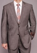 Gray Textured 2-button Suit