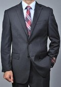 SKU#ER7744 Men's Grey Nailhead 2-button Suit $139