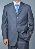 Grey Pinstripe 3-button Suit