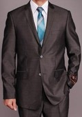 Grey Sharkskin 2-button Slim-fit