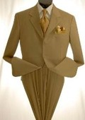 SKU#MUC73 Mens Khaki~Tan Dress lightweight and comfortable Suit $79