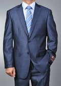 SKU#SA1144 Men's Metallic Blue 2-button Suit $139
