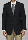 SKU#GD9791 Men's Navy Blue 2-button Blazer $139