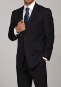 Navy Pinstripe 2-button Suit