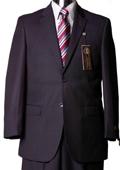 SKU#GW5620 Mens Navy Pinstripe Italian Designer Suit Navy $129