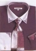 SKU#VX6802 Mens Purple French Cuff Shirts with Cuff Links $65