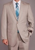 Sand Herringbone 2-button Suit