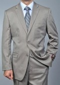 Sand Twill-pattern 2-button Suit