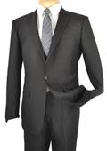 1 Button Slim Suit Black