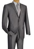 1 Button Slim Suit Gray