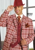 Stylish 3PC Suit Cabernet