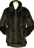 SKU#YQ4529 Mens Stylish Faux Fur Bomber Jacket Brown $199